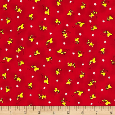 Snoopy Flying Ace Woodstock Toss Red