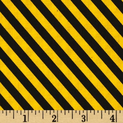 Tonka Road Work Construction Stripe Black/Yellow