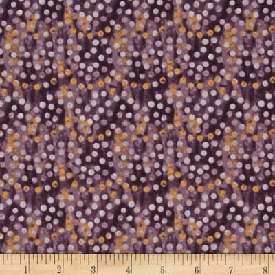 Timeless Treasures Native Pine Dots Purple