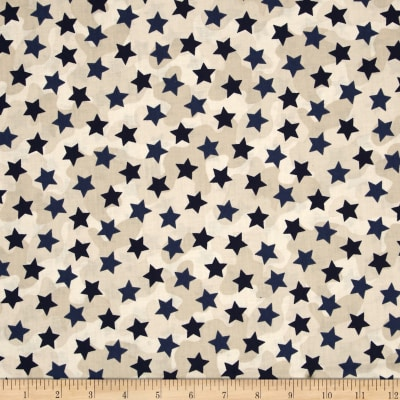 Be Strong, Be Brave Stars On Camo Blue