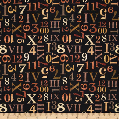 Timeless Numbers Black