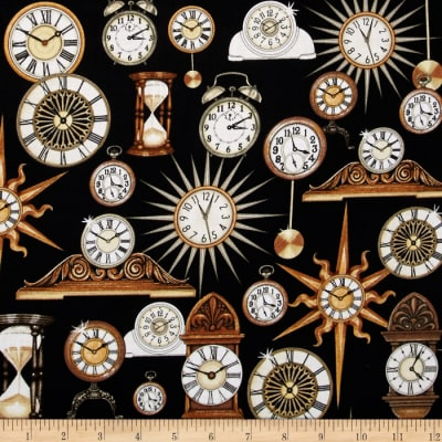 Timeless Clocks Black