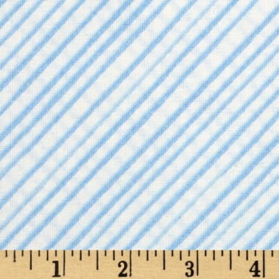 Flora Blue Blas Stripe Cream