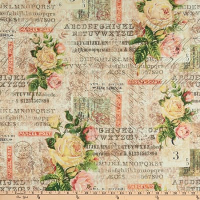 Tim Holtz Electric Elements Wallflower Rose Parcel Multi