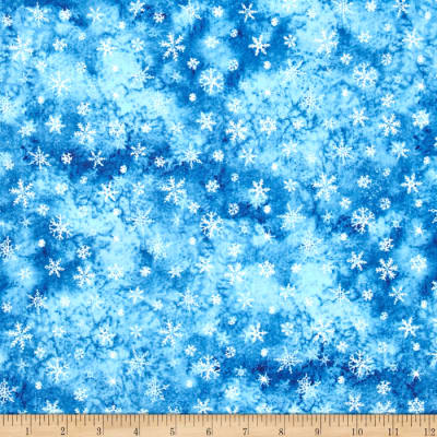 Eskimo Snow Snowflake Dark Blue
