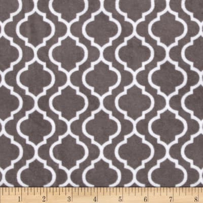 Shannon Minky Cuddle Classic Trellis Charcoal