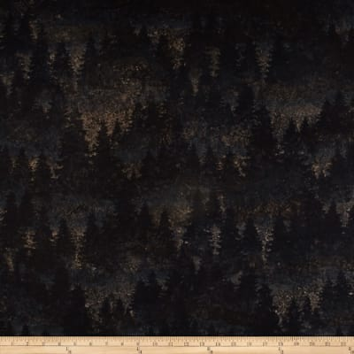 Aspen Ridge Flannel Evergreen Tree's Slate