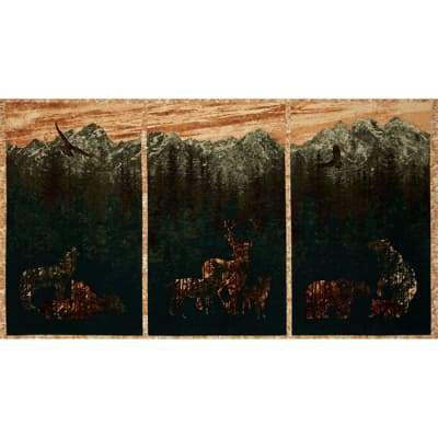 Aspen Ridge Deer Panel 24'' Copper Brown