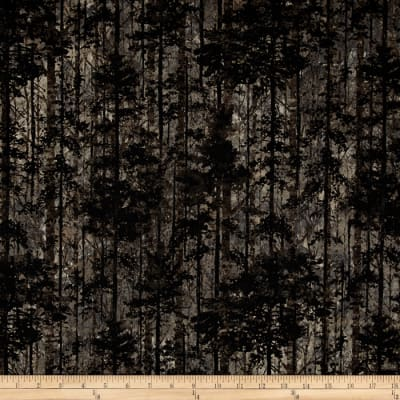 Aspen Ridge Deciduous Trees Slate Colorway