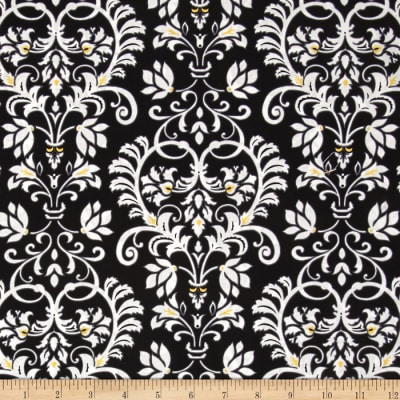 Audrey Damask Black