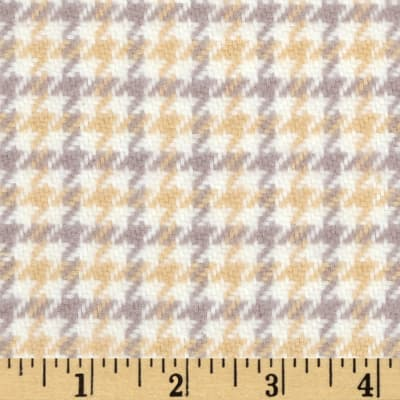 Cozy Yarn Dye Flannel Medium Houndstooth Cream