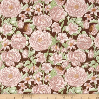 Butterfly Botanical Botanical Floral Brown