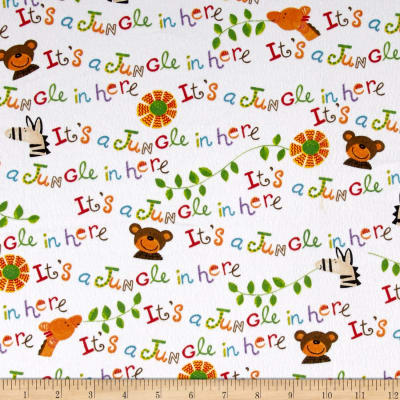 It's a Jungle in Here Flannel Words Multi