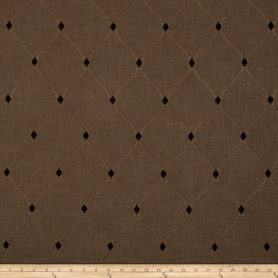 Swavelle/Mill Creek Embroidered Engaging Walnut