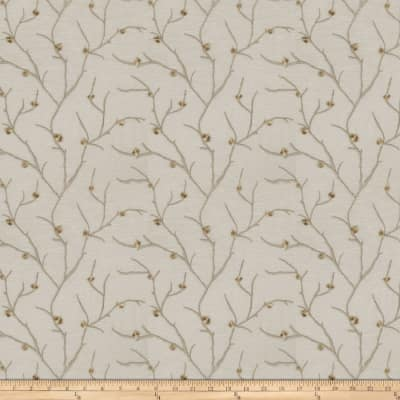 Fabricut  Embroidered Linen Norroway Taupe
