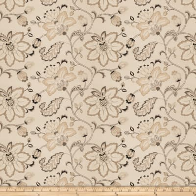 Fabricut Embroidered Bettino Floral Taupe