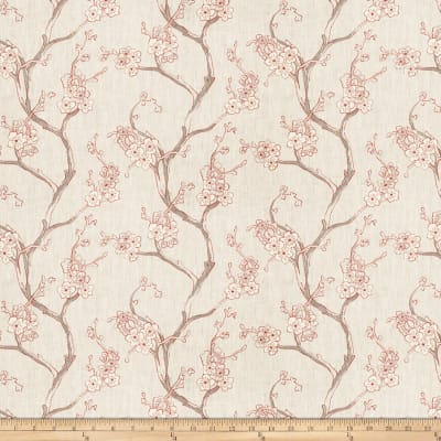 Fabricut Embroidered Linen Nikara Floral Cherry Blossom