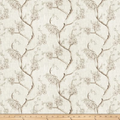 Embroidered Linen Nikara Floral Platinum