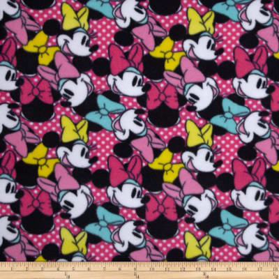 Disney Minnie Bags & Bows Fleece Head Toss Pink