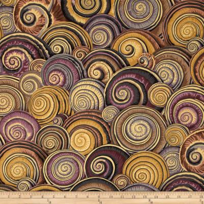 Kaffe Fassett Sateen Spiral Shells Brown
