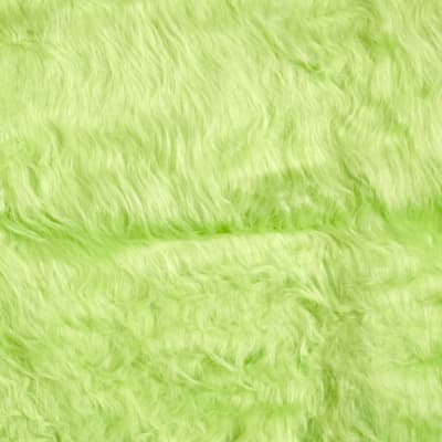 Faux Fur Monkey Lime