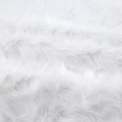 Shannon Faux Fur Monkey Shag White