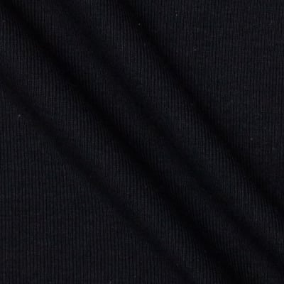 Fabric Merchants T-Knit Ribbing Black