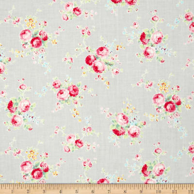 Lecien Flower Sugar Floral Trail Grey