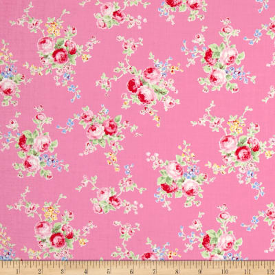 Lecien Flower Sugar Floral Trail Pink