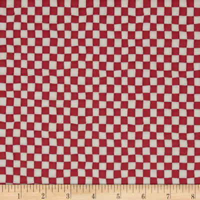 Alice in Wonderland Checker Board Red/Cream