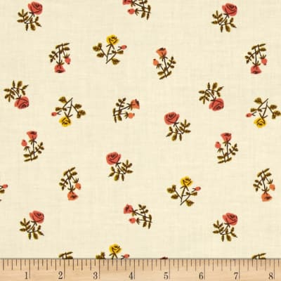Heather Ross Tiger Lily Small Roses Cream
