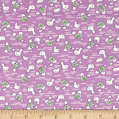 Storybook Vacation Duck Pond Purple