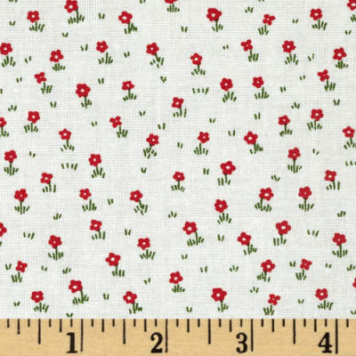 Storybook Vacation Flower Field Red