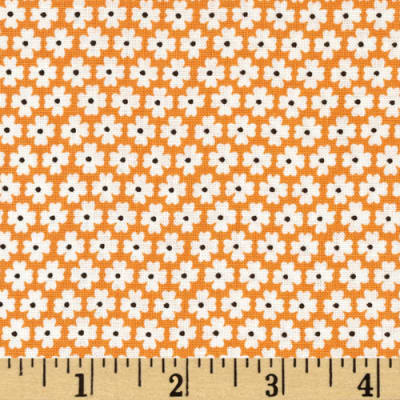 Storybook Vacation Daisy Dots Orange