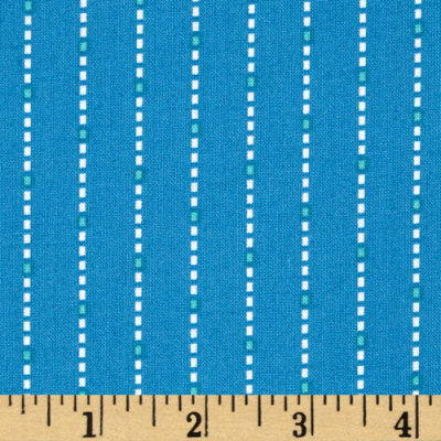 Hazel Dotted Stripe Blue