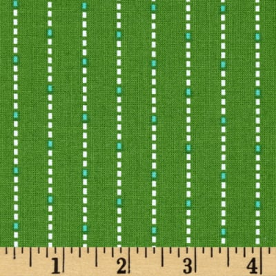 Hazel Dotted Stripe Green