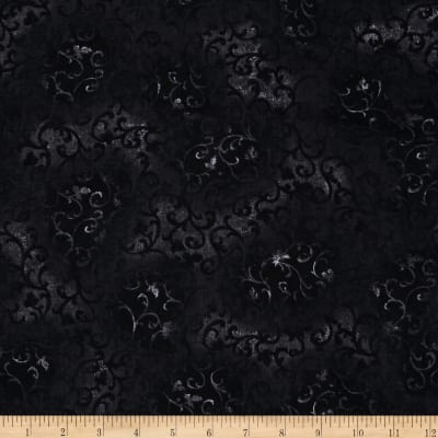 "108"" Essential Scroll Quilt Back Scroll Dark Grey/Black"