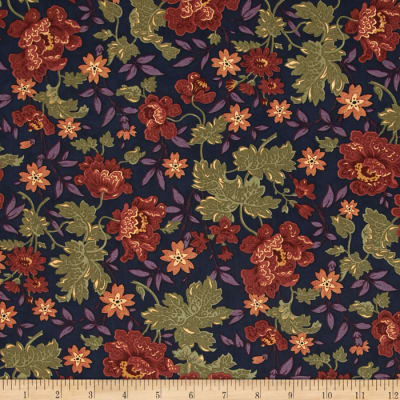 Moda Hawthorn Ridge Floral Denim