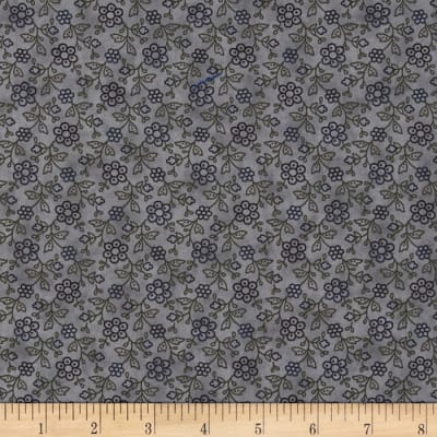 Moda Hawthorn Ridge Dotted Flowers Denim