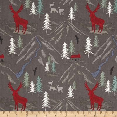 Lewis & Irene The Glen Royal Stag Slate Grey