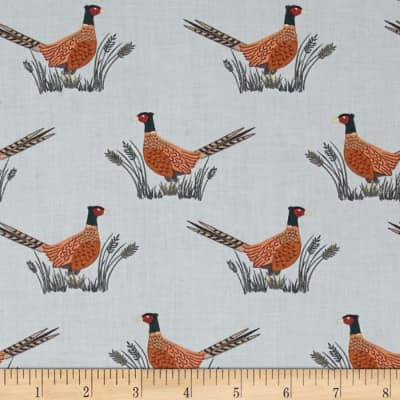 Lewis & Irene Country Life Friendly Pheasant Country Blue