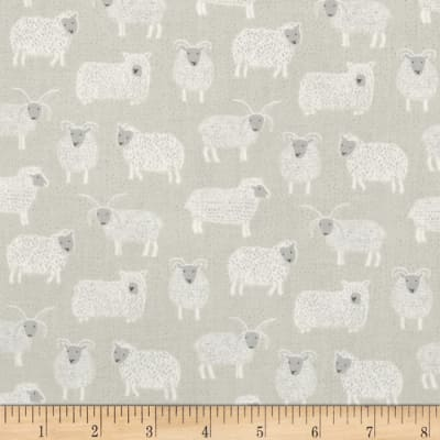 Lewis & Irene Country Life Woolly Sheep Natural