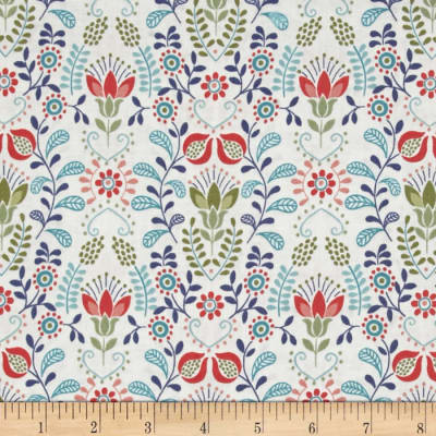 Lewis & Irene Home Sweet Home Blue & Green Flower Garden Cornish Cream