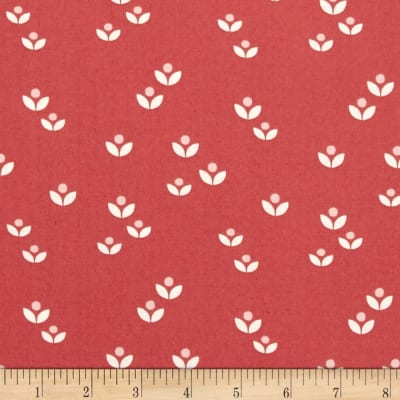Lewis & Irene Sam & Mitzi Dotty Flower Red