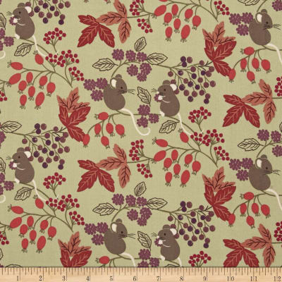 Lewis & Irene Autumn Fields Barley Mouse Country Green