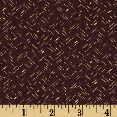 Moda Hawthorn Ridge Color Dashes Wine