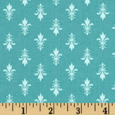 Moda Kindred Spirits Fleur De Lis Teal