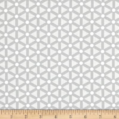 Moda Modern Background Paper Wheels Silver - Off-White