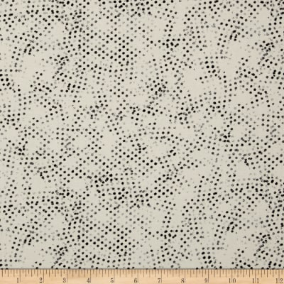 Moda Modern Background Paper Stamped Dots Charcoal - Eggshell