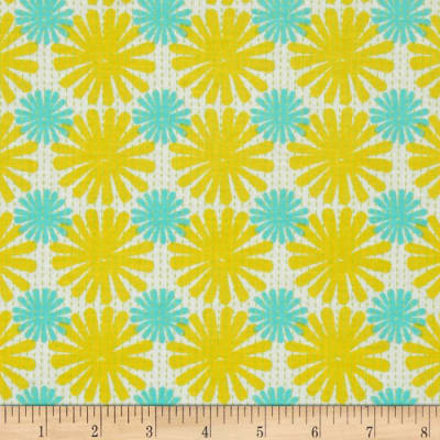 Moda Good Karma Burst Yellow - Aqua